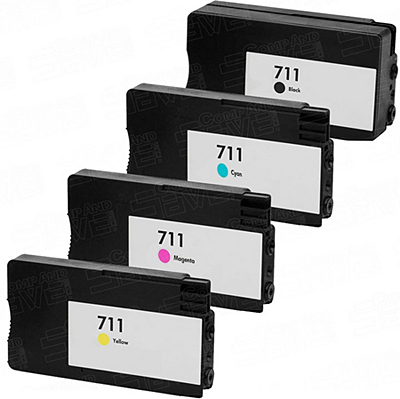 Sada - kompatibilné cartridge HP 711 XL BK, C, M, Y